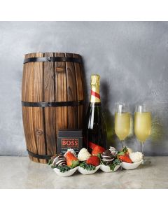 Brockton Champagne & Chocolate Dipped Strawberries Boat