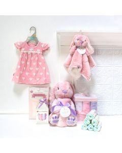 Bunny Girl Gift Set, baby gift baskets, baby boy, baby gift, new parent, baby