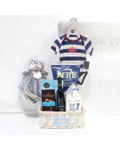 Baby Boy Celebration Basket, baby gift baskets, baby boy, baby gift, new parent, baby