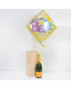 Welcome Baby Champagne Celebration, baby gift baskets, baby boy, baby gift, new parent, baby, champagne