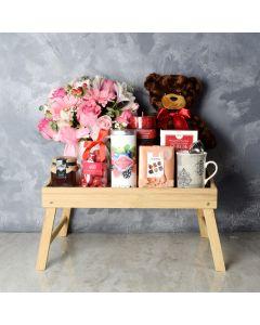 St. Lawrence Valentine's Day Basket, gourmet gift baskets, chocolate gift baskets, Valentine's Day gifts, gift baskets, romance