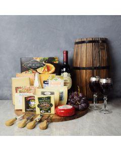 Sensational Wine & Cheese Feast, gourmet gift baskets, wine gift baskets, gourmet gifts, gifts
