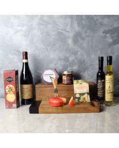 Italian Affair Cheese & Wine Gift Basket, wine gift baskets, gourmet gift baskets, gift baskets, gourmet gifts