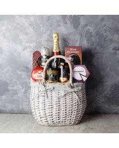 Cheese, Chutney & Champagne Gift Set, champagne gift baskets, gourmet gift baskets, gift baskets
