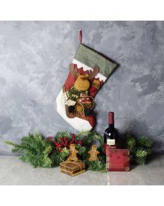 Sweet Reindeer Stocking Gift Set, wine gift baskets, gourmet gifts, gifts