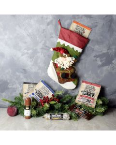 The Cured Meat Stocking Gift Set, gourmet gift baskets, gourmet gifts, gifts
