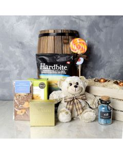 Cuddly Bear Snack Gift Crate, gourmet gift baskets, gourmet gifts, gifts