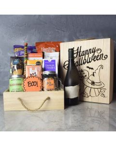 Spooky Sweets Halloween Gift Crate With Wine