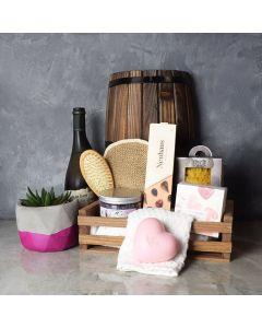 Naturally Luxurious Spa & Wine Gift Set