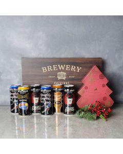 Christmas Cheer & Beer Gift Set, beer gift baskets, Christmas gift baskets, gourmet gift baskets