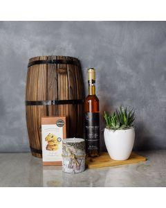 Birch Bark Candle & Wine Gift Basket, wine gift baskets, gourmet gift baskets, gift baskets
