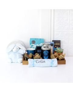 GIFT BASKET FOR THE NEWBORN CUTIEPIE, baby boy gift basket, welcome home baby gifts, new parent gifts