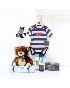 BABY'S FIRST WARDROBE GIFT SET, baby boy gift basket, welcome home baby gifts, new parent gifts