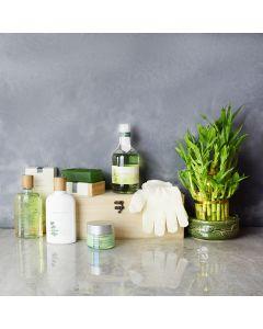 Herbal Glow Spa Gift Set, spa gift baskets, spa gifts, gift baskets, spa sets
