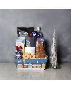 Santa's Reindeer & Liquor Gift Set, liquor gift baskets, gourmet gifts, gifts