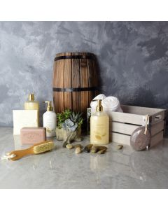 Soft & Soothing Spa Gift Crate, spa gift baskets, spa gifts, gift baskets, gifts, spa sets