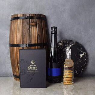 Gourmet Cookies & Champagne Gift Basket Maine