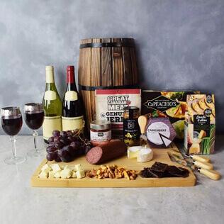 Grand Cheese& wine Gift Basket Maine