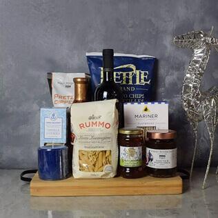 Hanukkah Kosher Wine & Pasta Basket Maine