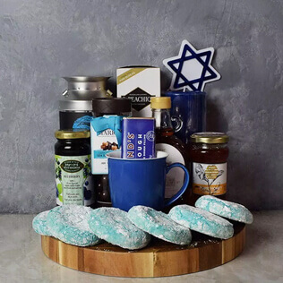 Kosher Treats & Coffee Hanukkah Basket Maine