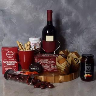 Muffin,Chocolate & Wine Delight Gift Set Maine