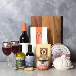 Pasta Lovers Wine Gift Basket Maine