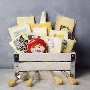 Say Cheese Gourmet Gift Basket Manchester