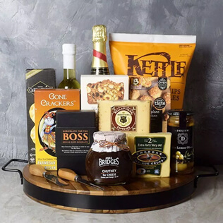 Champagne & Cheese Platter Gift Set Maine
