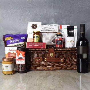Kosher Wine & Treats Basket Manchester