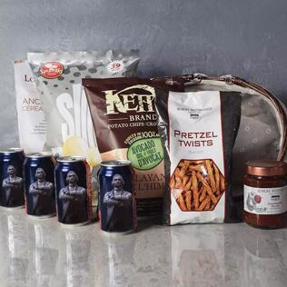 Kosher Beer & Snacks Basket Maine