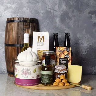 Little Italy Deluxe Craft Beer Basket Manchester