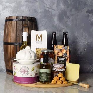 Little Italy Deluxe Craft Beer Basket Maine